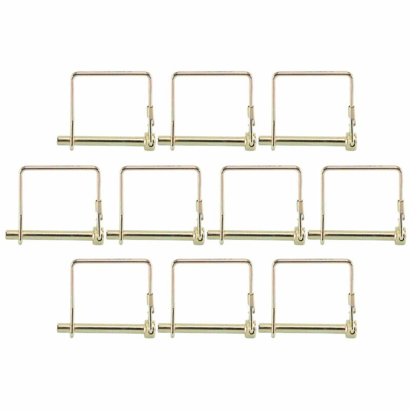 """10 x Locking Pin 1/4"""" x 2-1/4"""" Square Towing Hitch Trailer Coupler Safety Snap"""