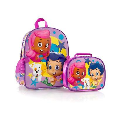 Bubble Guppies Backpack with Lunch Bag for Kids - 15 Inch - Bubble Backpacks
