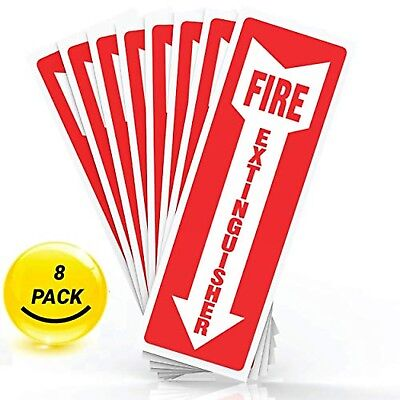 Fire Extinguisher Sticker Sign Decal With Arrow High Quality Self Adhesive
