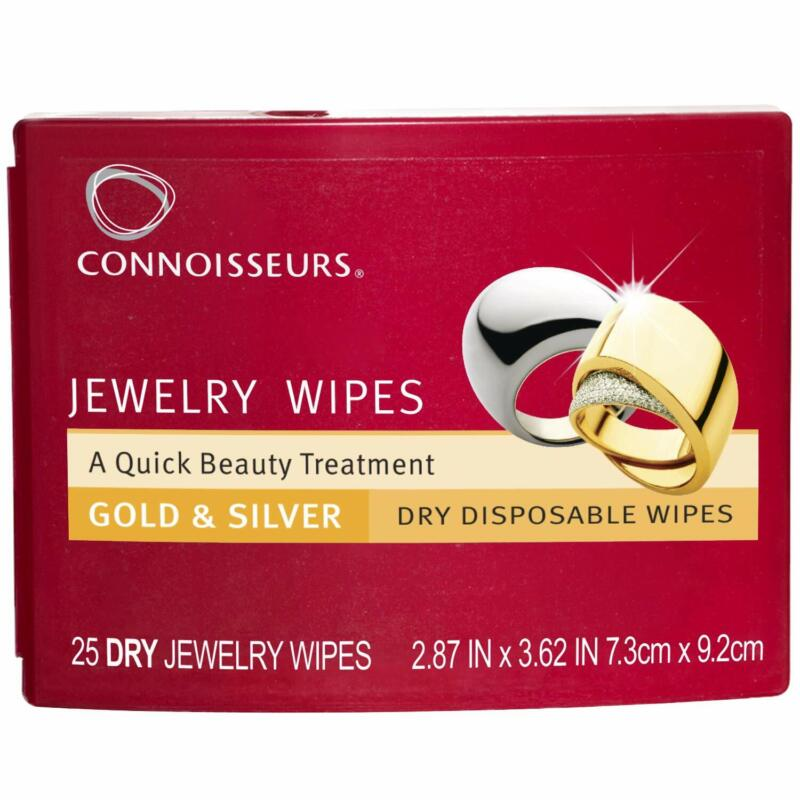 Jewelry Wipes Cleaner 25 dry Disposable wipes clean gold and