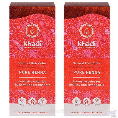 Khadi Herbal Natural Hair Colour Pure Henna Botanical Dye PACK OF 2 100g each