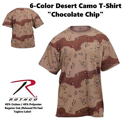 ROTHCO 6-COLOR DESERT CHOCOLATE CHIP CAMOUFLAGE T-SHIRT