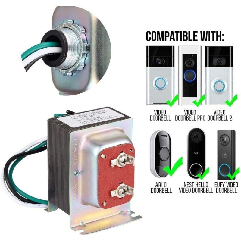 Ring Doorbell Transformer 16V 30VA Power Supply for Video Doorbell 1, 2, 3, Pro