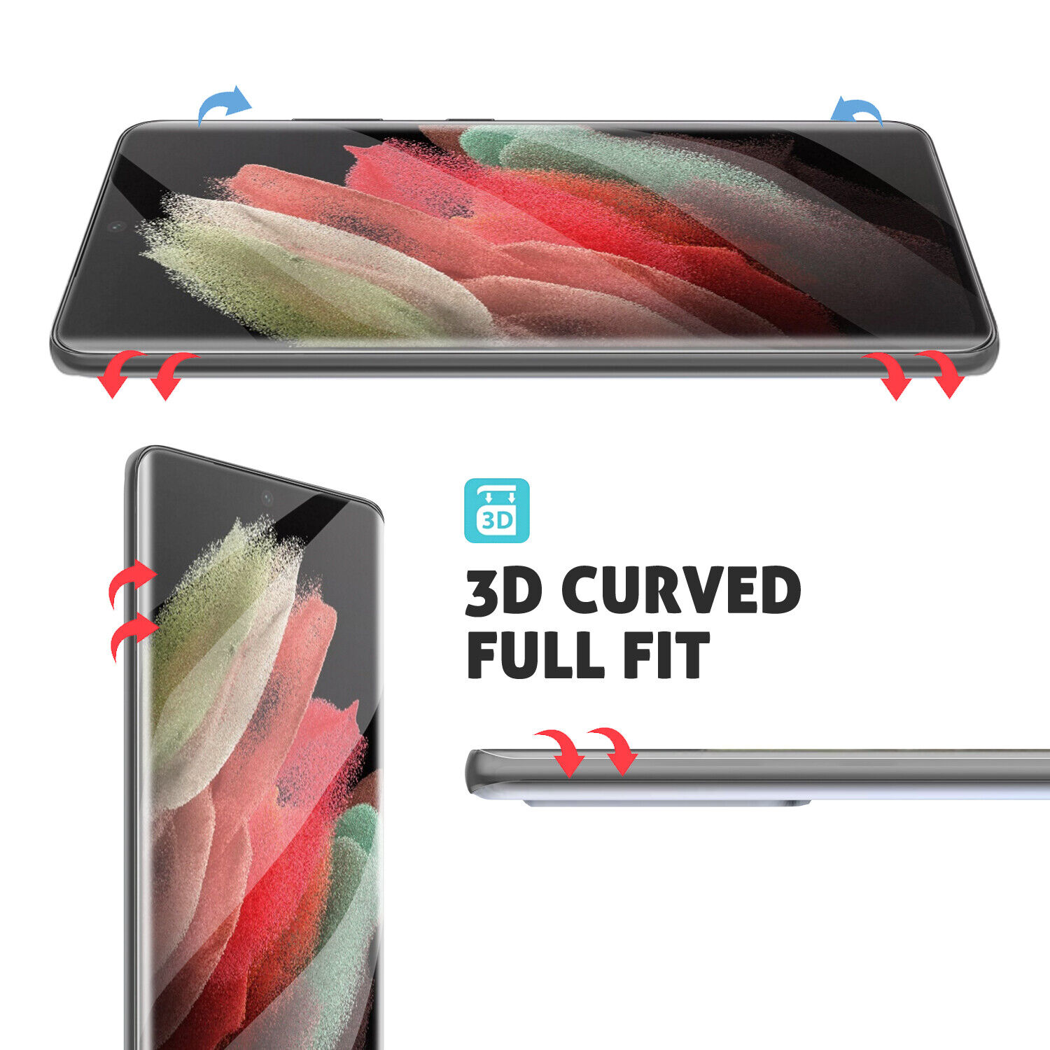 For Samsung Galaxy S21 Ultra,S21+ Plus,S21 5G Ring Holder Stand Clear Case Cover Cases, Covers & Skins