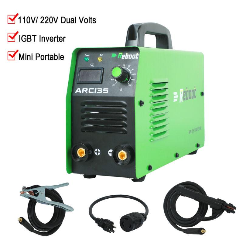 ARC Welder 110V 220V Double Voltage Stick Welding IGBT Invertert Machine Reboot