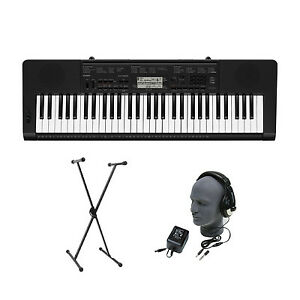 Brand New Casio CTK-3200 CTK3200 61 Key Keyboard with Headphones, Stand, Power
