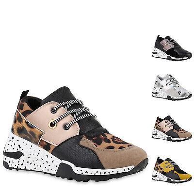 Damen Sneaker Wedges Keilabsatz Schuhe Prints Keilsneaker Lack 898091 Hot