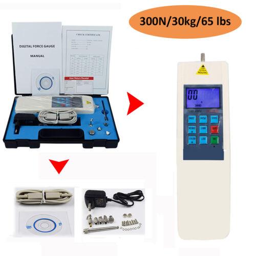Push Pull Meter Digital Force Gauge Dynamometer Tools Equipment 300N/30kg/65 lbs