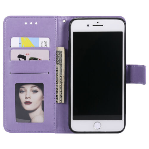Купить Unbranded/Generic - Flip Pattern Leather Wallet Stand Shockproof Case Cover For iPhone Xs Max 7 8 6s