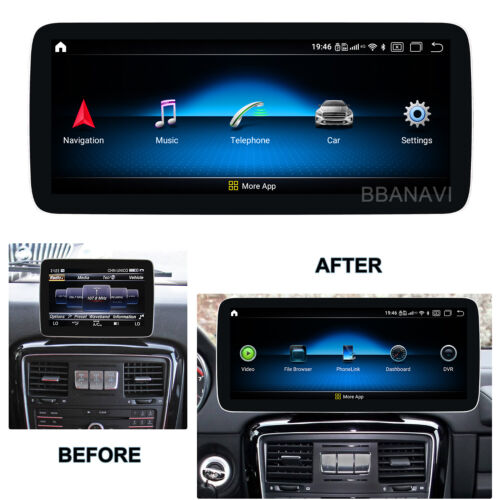 Android10 12.3inch Screen Display Multimedia GPS for Mercedes Benz G class NTG5