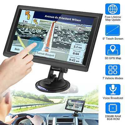 5/7/9 Inch Touch Screen 8GB Car GPS Navigation Sat Nav Navigator  Lifetime+Maps