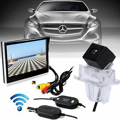 "5"" TFT Monitor + Wireless Rear View Reverse Camera For Mercedes-Benz C E Class"