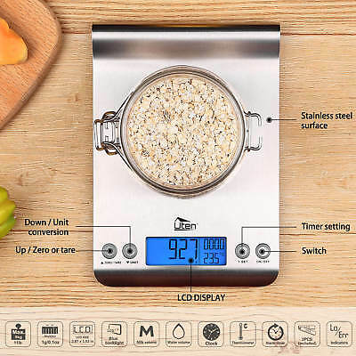 5kg/1g Digitale Küchenwaage m. LCD-Display Tara-Zuwiegefunktion Kitchen Scale DE