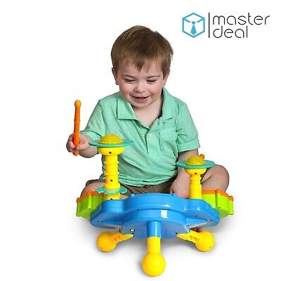 Musical Kids Jazz Drum Play Baby Toddler Colourful Lights Music Educational Toy](Drums Toy)