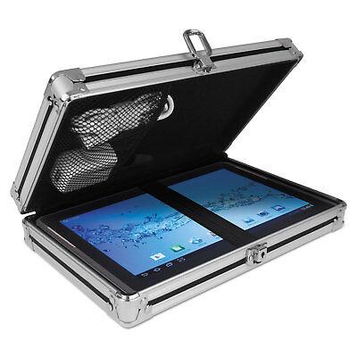 Vaultz Locking Storage Clipboard 5 X 8 Blackchrome Vz00150