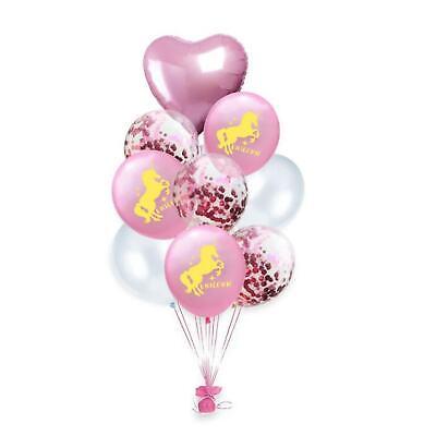 tballon Set + Herz Ballon Kindergeburtstag JGA Ballons Rosa (Einhorn Ballon)