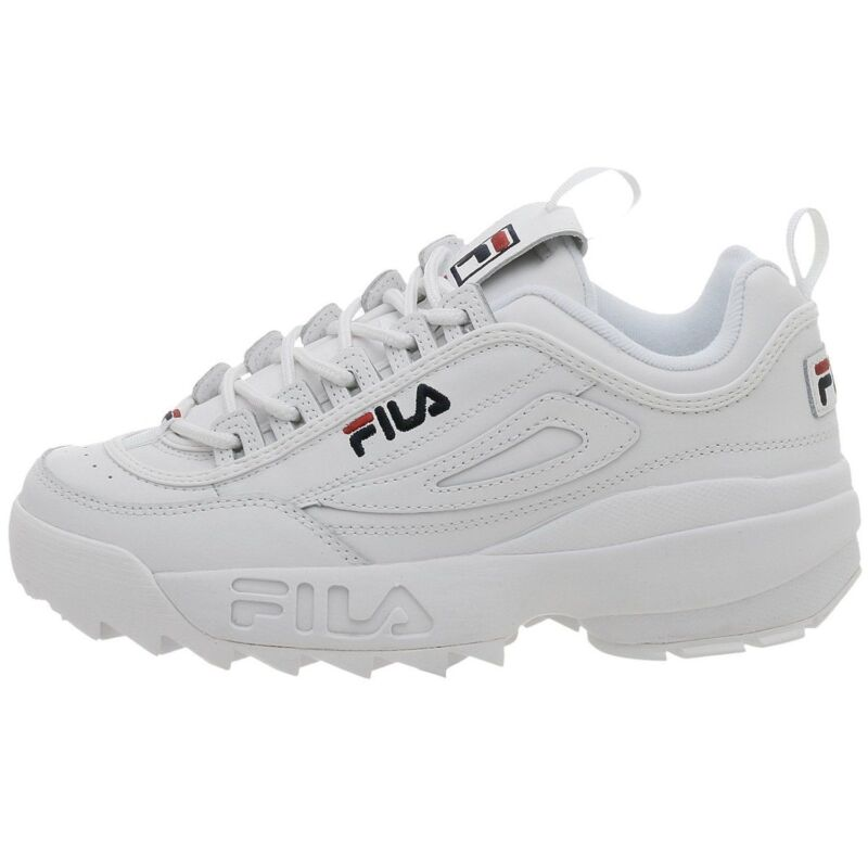 Men Fila Disruptor II Synthetic Fw01655 111 WhiteNavy 100
