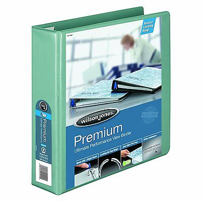 Wilson Jones Premium Single-touch Lock Round Ring Binder 2 Inch Seafoam 12pack