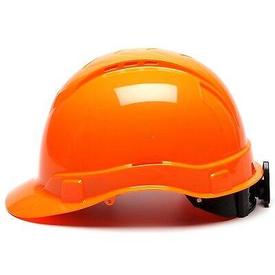 Pyramex Vented Cap Style Hard Hat With 4 Point Ratchet Suspension Hi-vis Orange
