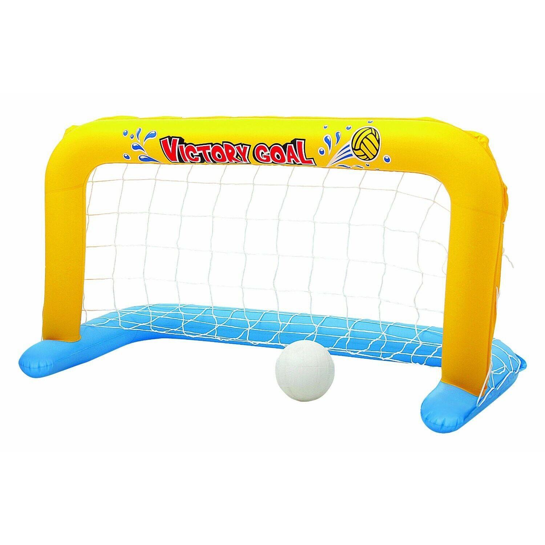 BESTWAY 52123 aufblasbares schwimmendes Pool Wasserball Tor 137x66cm mit Ball