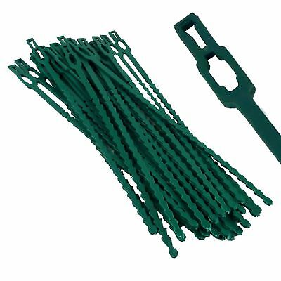 50 Reusable Garden Cable Plant Ties Greenhouse Bamboo Cane Supports Growing Veg