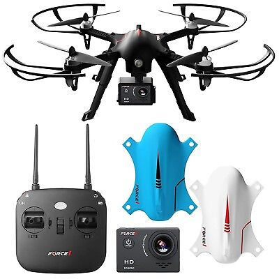 Exact1 F100 Ghost Drone with Camera HD 1080p Remote Control Brushless GoPro NEW
