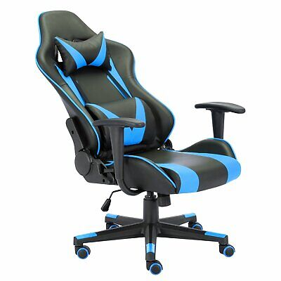 Blue Chair Leather Executive Highback Computer Gaming Chair For Adults Women Men