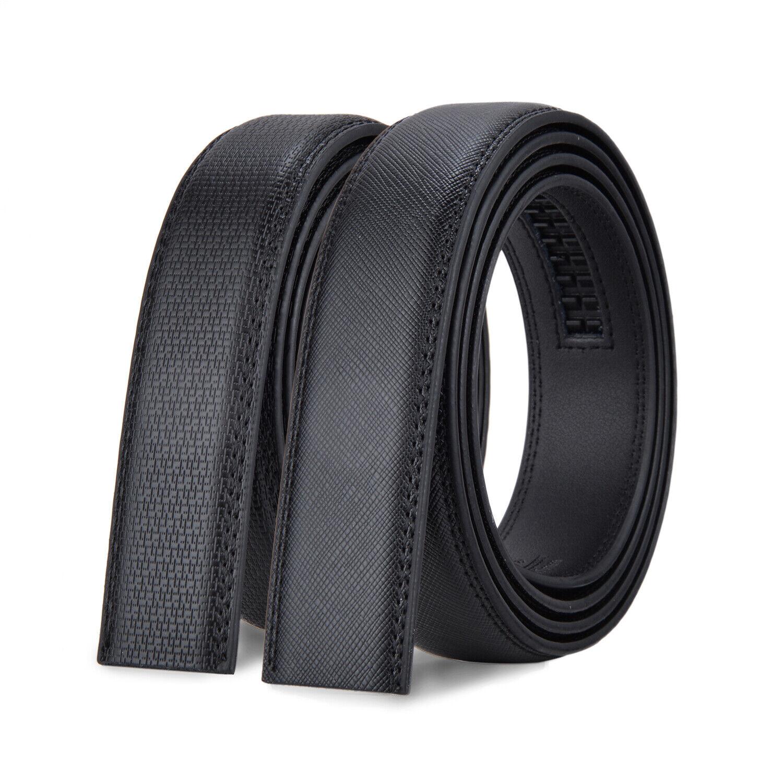 Men/'s Luxury Automatic Buckle Belt Strap Black Brown Leather Ratchet Strap Jeans