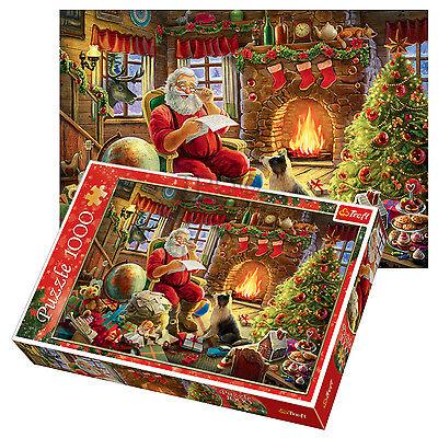 Trefl 1000 Piece Adult Large Christmas Theme Santa Claus Jigsaw Puzzle NEW - Adult Puzzles
