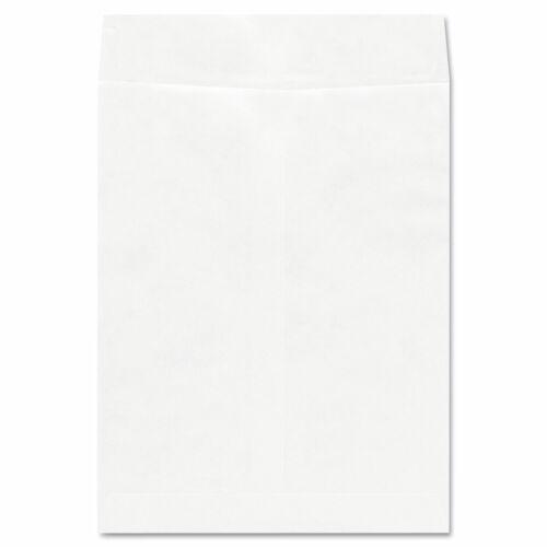 Deluxe Tyvek Envelopes, #13 1/2, Squar Flap, Self-Adhesive, 10 x 13, White