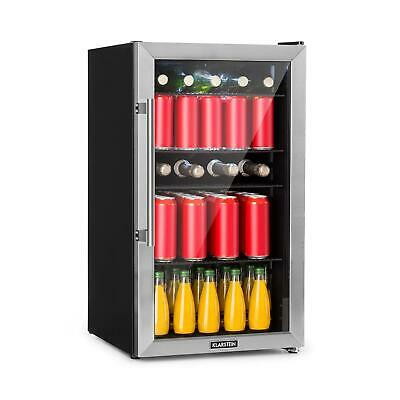 Wine Fridge Beer cooler drinks chiller Bar Refrigerator 98 L 7 Levels A+ Black