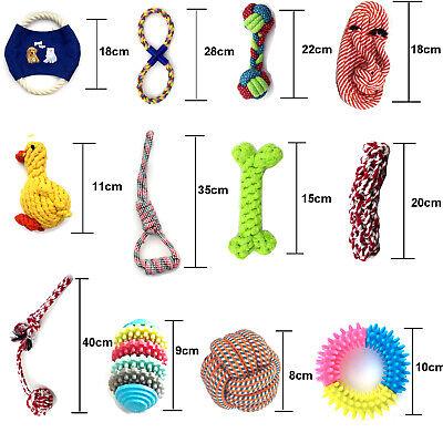Hundespielzeug für kleine Hunde Kauspielzeug Welpen Set Seil Zerrspielzeug Ball ()