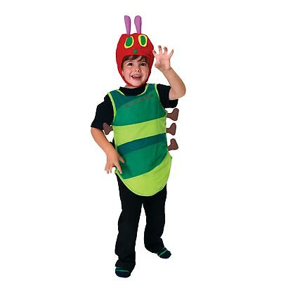 Kids Boys Girls The Very Hungry Caterpillar Bug Book Week Fancy Dress Costume