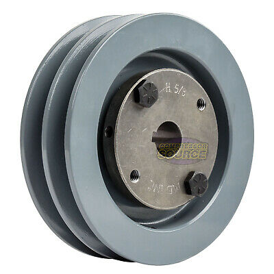 Cast Iron 4.5 2 Groove Dual Belt A Section 4l Pulley With 58 Sheave Bushing