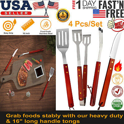 Stainless Steel Grill Tongs (Stainless Steel Barbecue Grill BBQ Tongs Spatula Fork Knife Tools Kitchen Tool )
