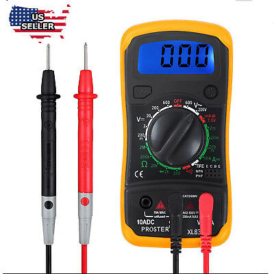 Digital Multimeter Pocket Tester Meter Dmm Dc Ac Current Voltmeter  Lcd Light