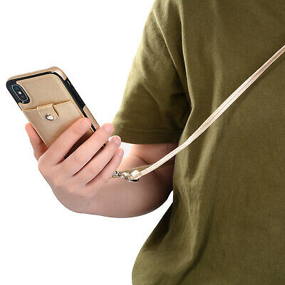 Hülle mit Band Handykette Hülle zum umhängen Tasche mit Hals Band Schutzhülle  - Band-handy