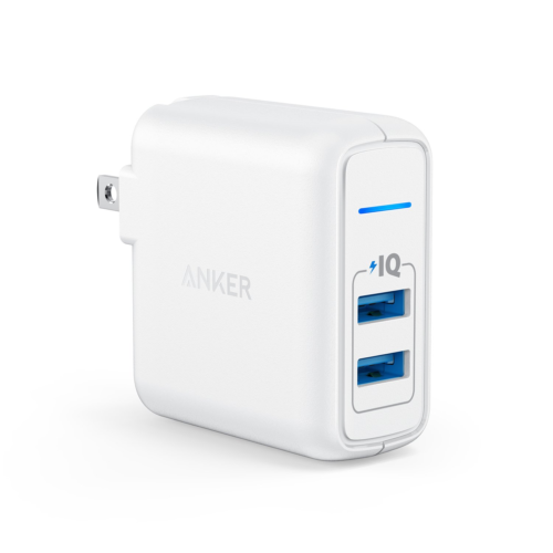 Anker 24W 2Port Fast USB Wall Charger Fit i-Phone 7/6s/Plus/