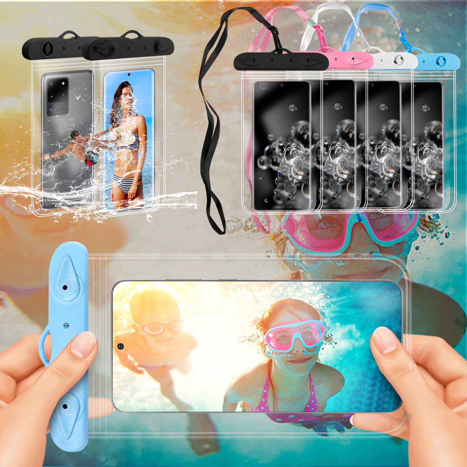 Waterproof Bag Dry Pouch Cell Phone Underwater Clear Case Cover Diving Swimming Cases, Covers & Skins