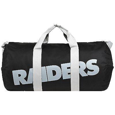 Nfl Oakland Raiders Vessel Barrel Duffle Gym Bag