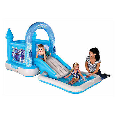 AirproTech Junior Disney Frozen Bouncy Castle House Ramp And Pool For Kids