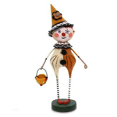 TRICK OR TREAT CLOWN Whimsical Halloween Figurine, Lori Mitchell, by ESC