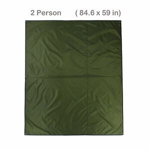 Topnaca® 2-3-4 Person Outdoor Thickened Oxford Fabric Camping Shelter Tent Tarp