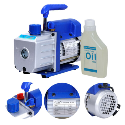 1/3HP 4CFM Rotary Vane Deep Vacuum Pump AC Air Conditioning Tool R410a R134 HVAC Business & Industrial