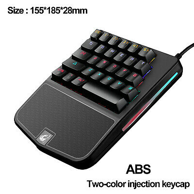Key Keypad - One Handed Mechanical Gaming Keyboard 28 Keys Wired Rainbow Backit Gamer keypad