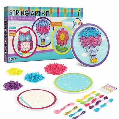 String Art Kits (Triple String Art Kit, Make 3 String Art Projects, Craft Kit for Kids and)