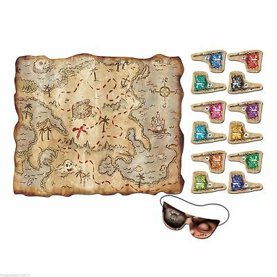 Pirate Treasure Map Pin The Flag Children Kids Fun Game Halloween Party - Map Halloween Costume