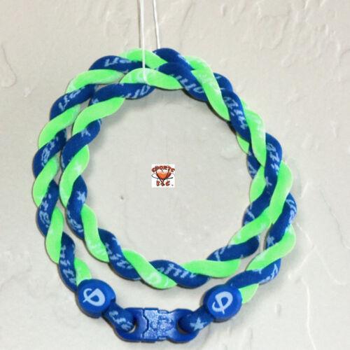 Phiten Tornado Necklace Custom: Royal Blue/Optic Green