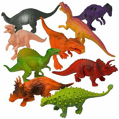 Realistic Looking 7  Dinosaurs Pack Of 12 Large Assorted Dinosaur Toys Figures