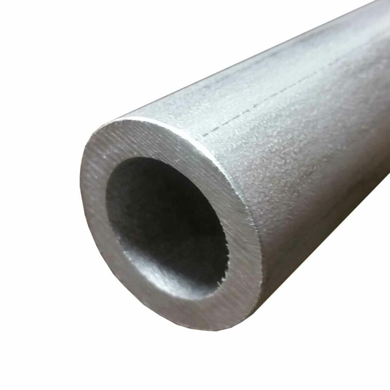 """304 Stainless Steel Round Tube, 2"""" OD x 0.375"""" Wall x 12"""" long, Seamless"""